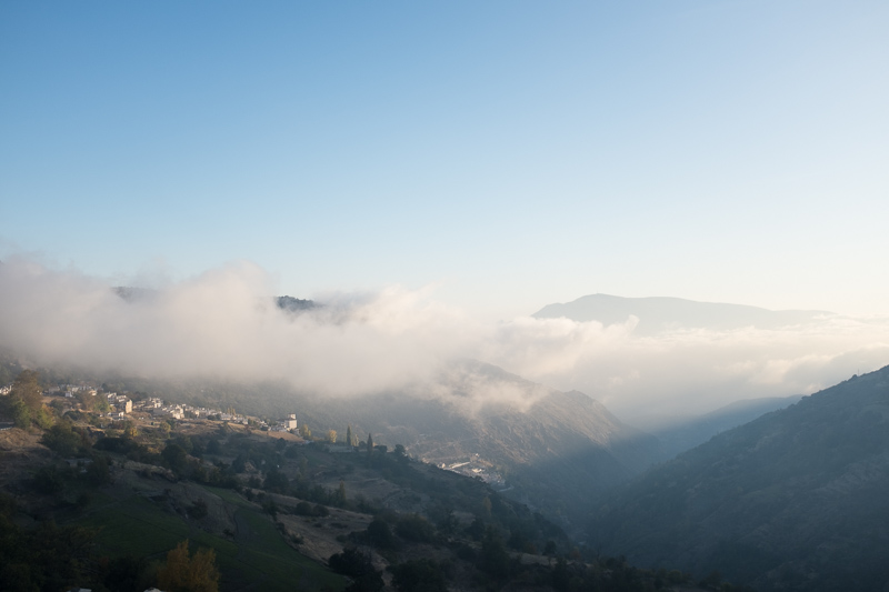 low cloud in the sierra nevade in Andalusia - something we hadn't imagined when putting together destinations for our Andalusia trip