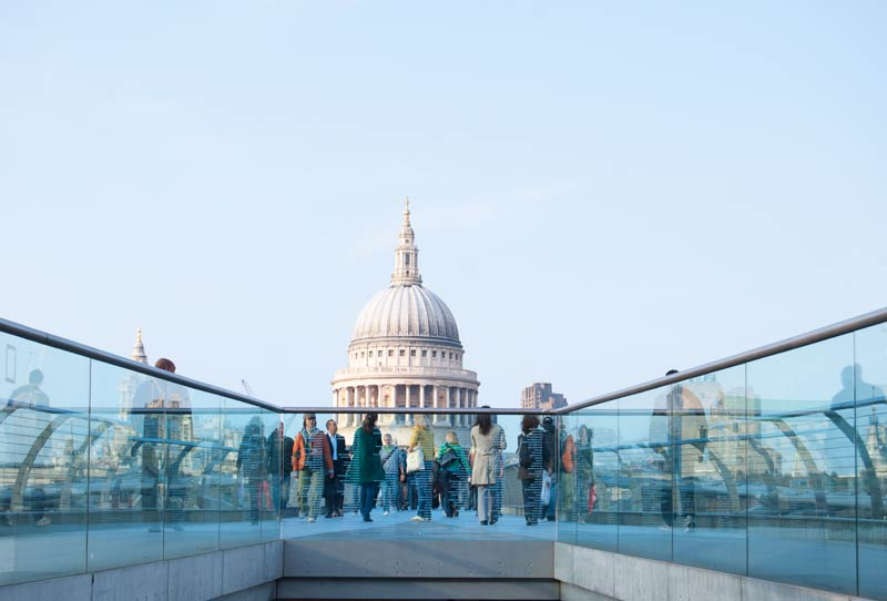 Saint Paul's Cathedral viewed from the Millennium Bridge