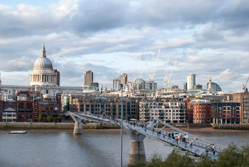 Saint Paul's Cathedral viewed from the Tate Modern in London