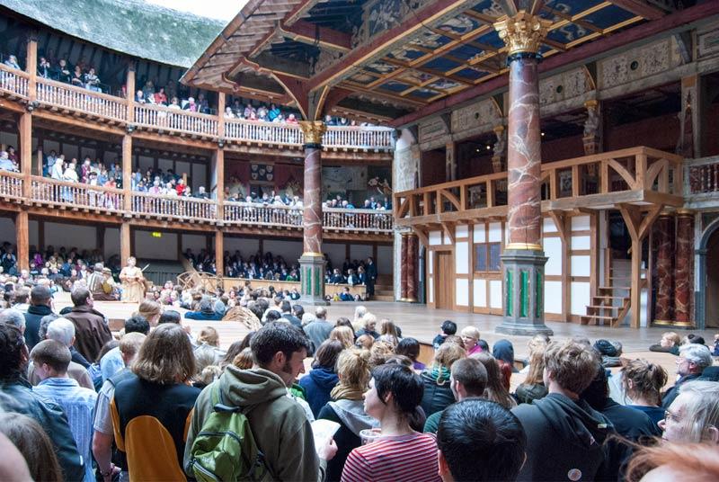 Inside the Globe Theatre in London