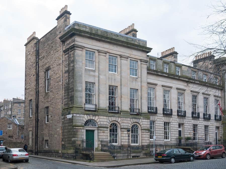 Buildings in New Town In Edinburgh