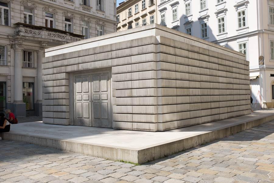 Holocaust Memorial in Judenplatz in Vienna