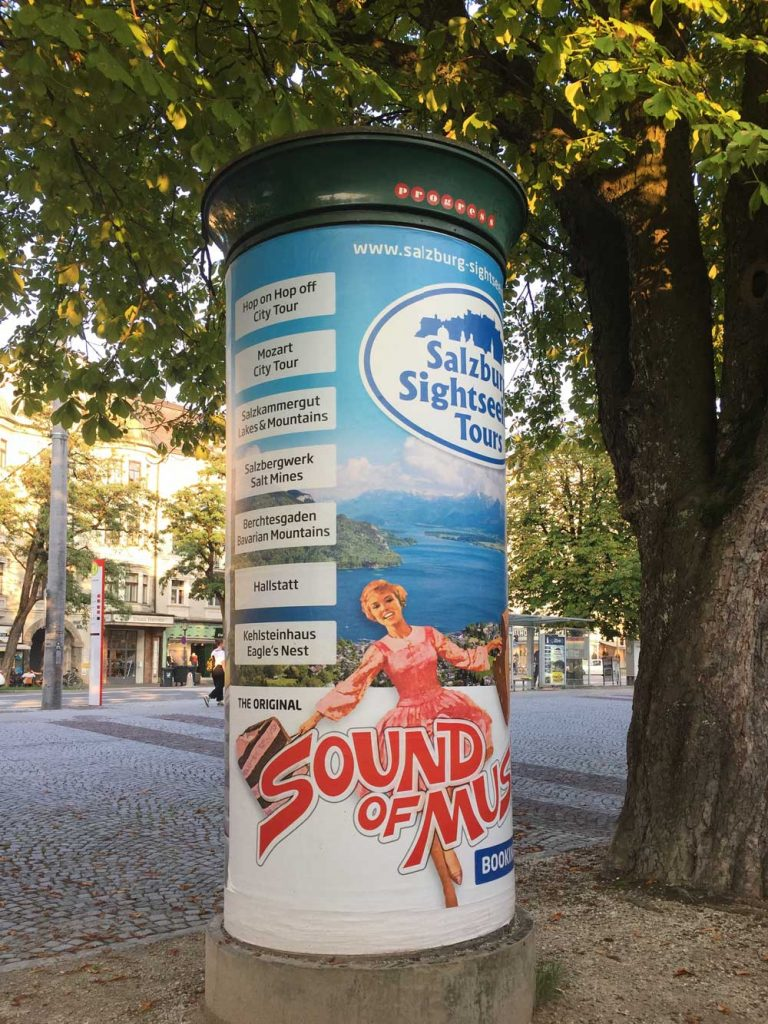 Advertisement in Salzburg for The Sound Of Music tour